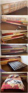 DIY Pallet Wall Bed Headboard