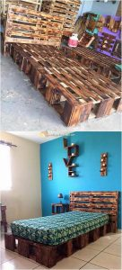 Pallet Bed Frame and Wall Decor