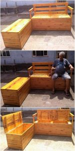 Pallet Benches with Storage
