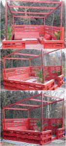 Pallet Garden Furniture with Gazebo