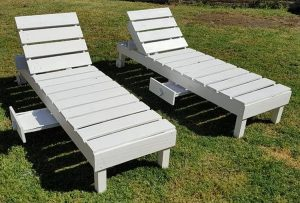Pallet Sun Loungers with Drawers