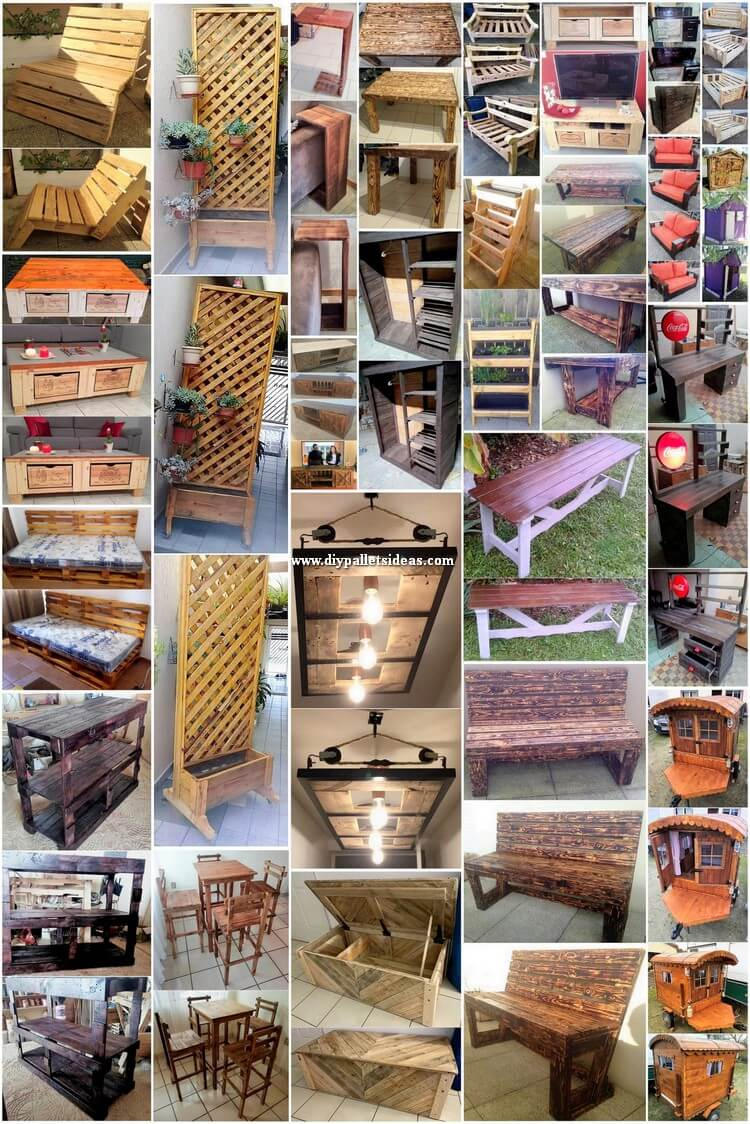 Creative Recycled Wood Pallet DIY Projects