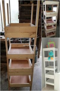 DIY Pallet Shelving Stand