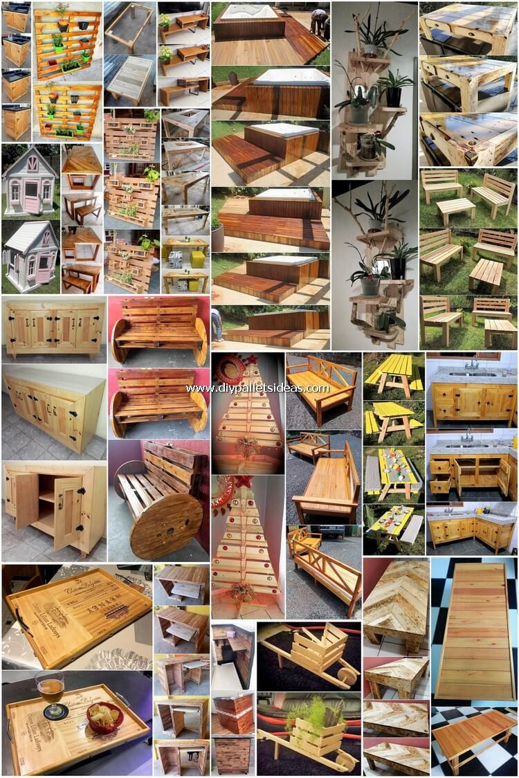 Latest and Fresh DIY Wood Pallet Ideas 2019