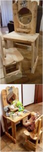 Pallet Kids Dressing Table and Chair