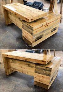 Pallet Office Desk Table