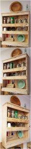 Pallet Shelving Cabinet for Kitchen