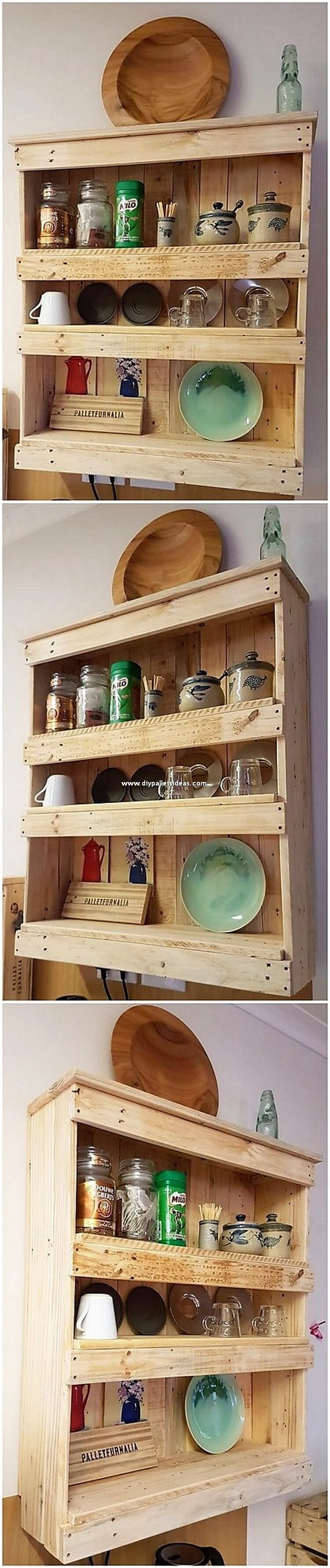 Pallet Shelving Cabinet for Kitchen