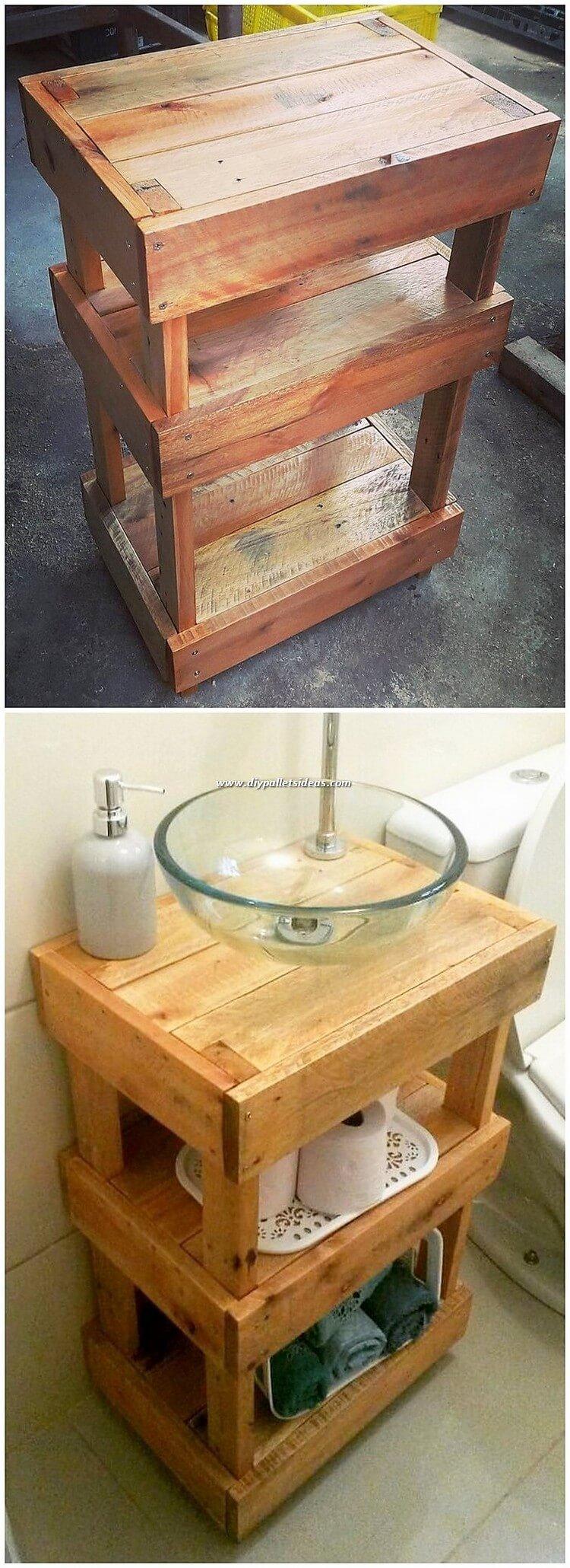 Pallet Sink Stand