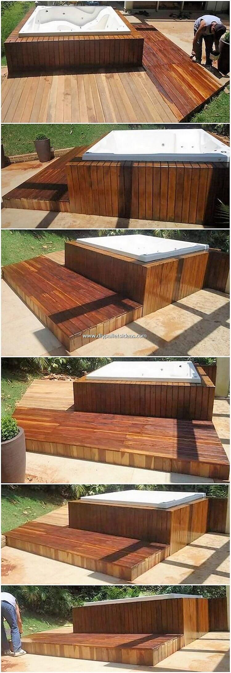 Pallet Swimming Pool Deck