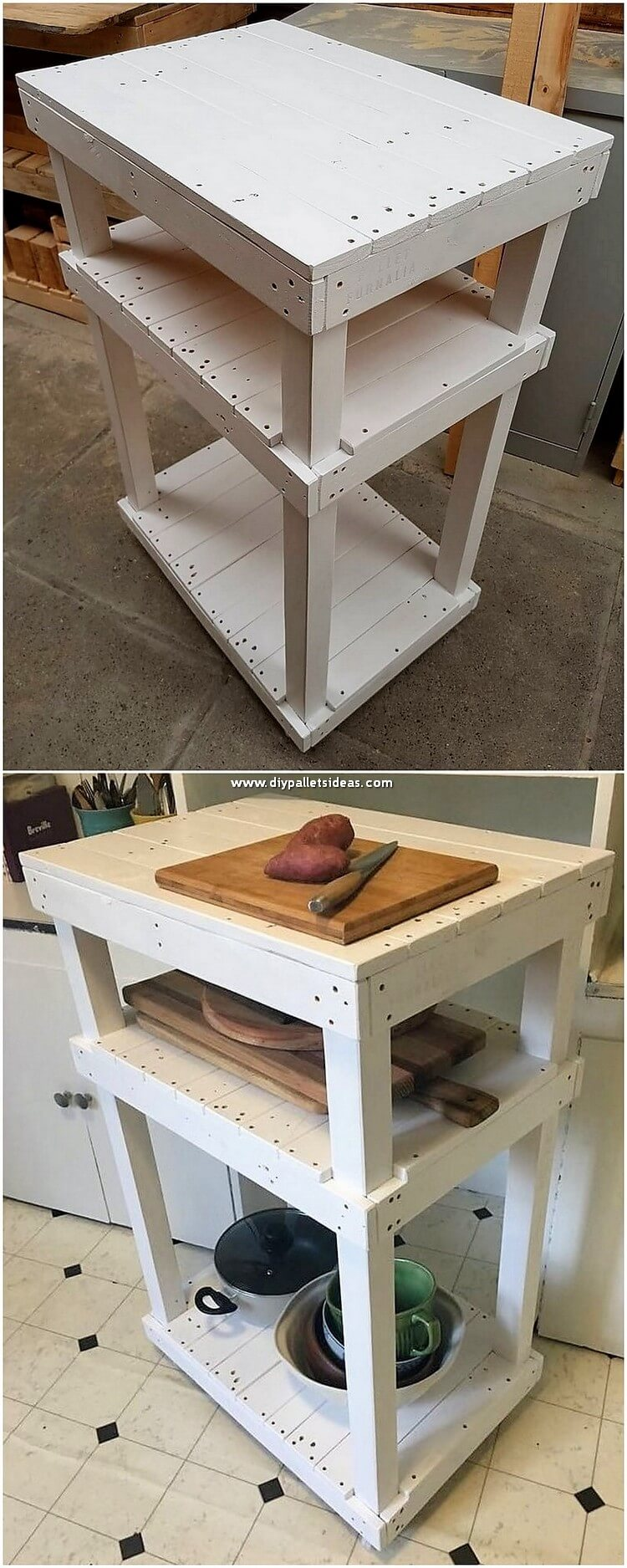 Pallet Table for Kitchen Use