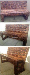 Wooden Pallet Bench