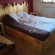 Pallet Bed and Headboard with Lights