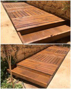 Pallet Garden Deck or Terrace