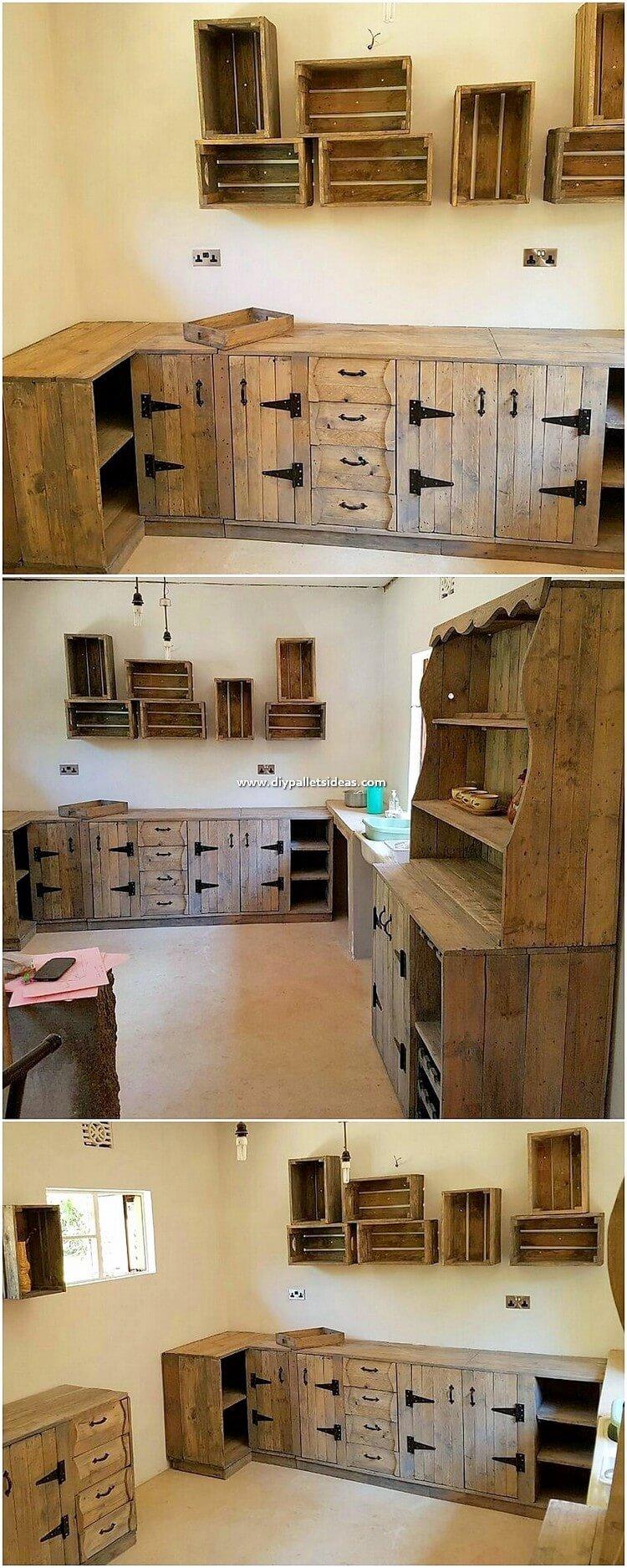 Pallet Kitchen Cabients
