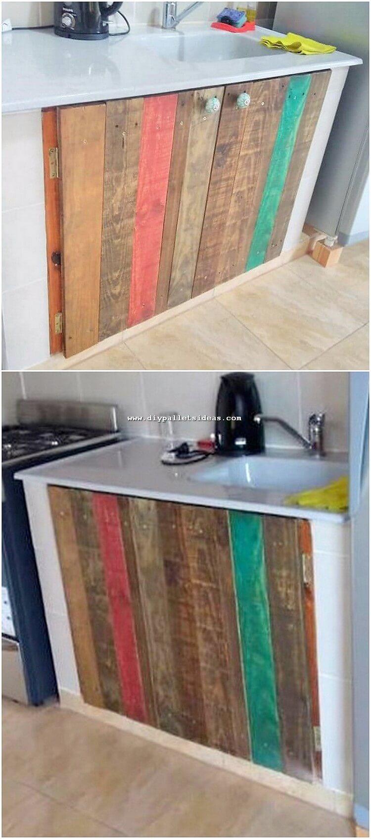 Pallet Kitchen Cabinet
