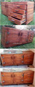 Pallet Kitchen Cabinets with Sink