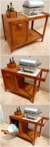 Pallet Kitchen Table with Cabinet