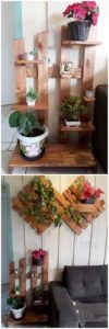 Pallet Pots Stand and Wall Planter