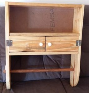 Pallet Wall Shelf with Cabinet
