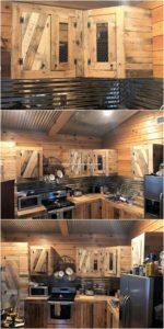 Wood Pallet Kitchen Cabinets