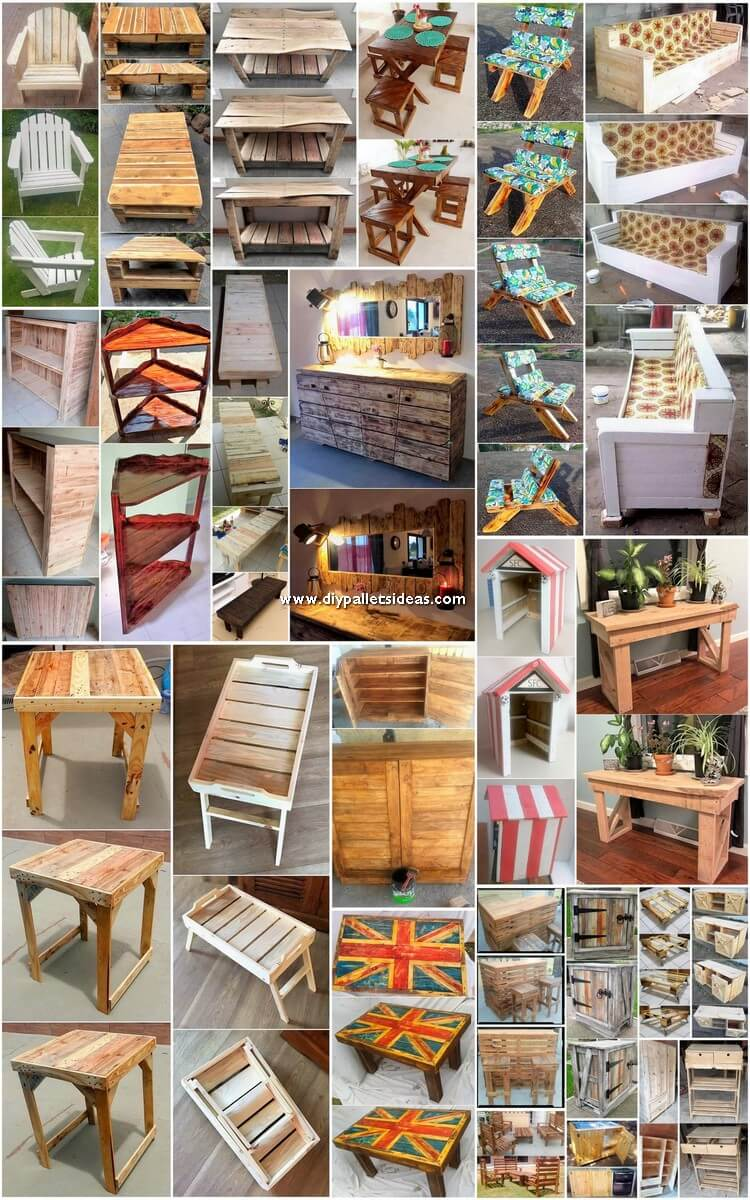 Inexpensive Recycled Wooden Pallet DIY Ideas