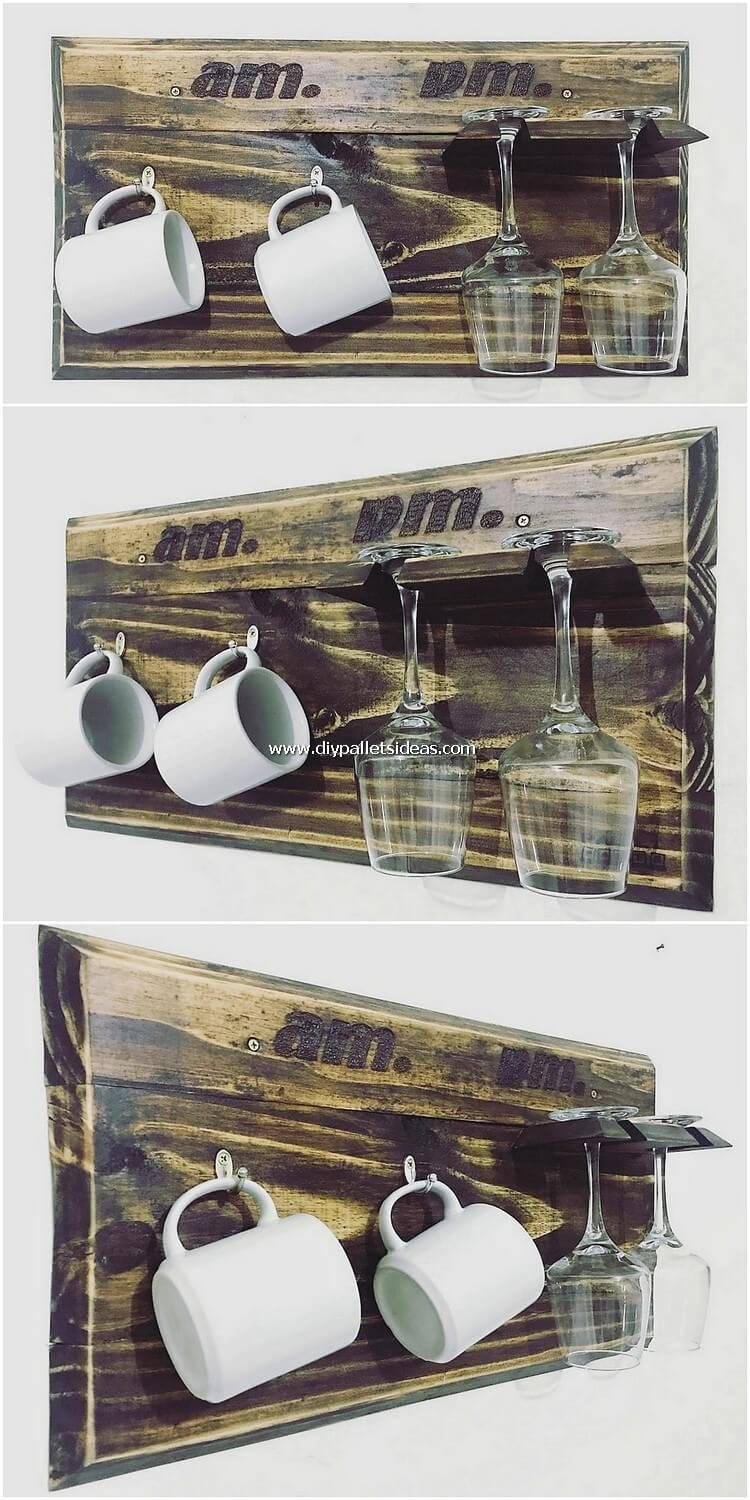 Pallet Cup Holders with Glass Holders