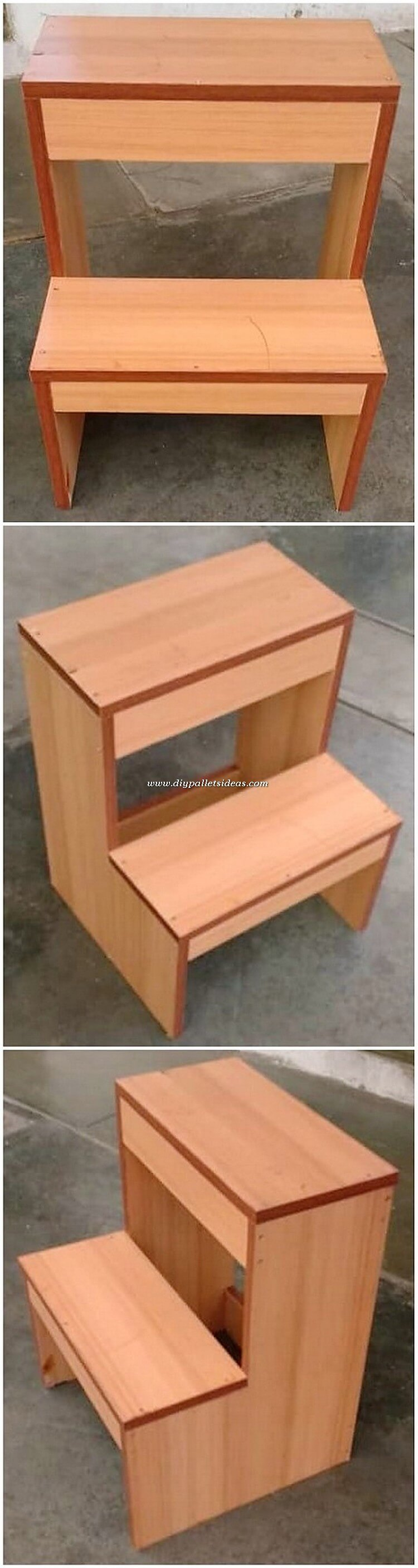 Pallet Seat and Bench for Kids