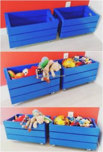 Pallet Toy Boxes