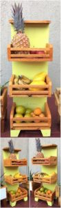 Pallet Vegetables and Fruits Rack