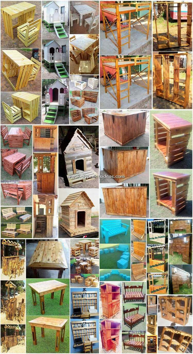 Marvelous DIY Ideas for Old Wood Pallets Reusing