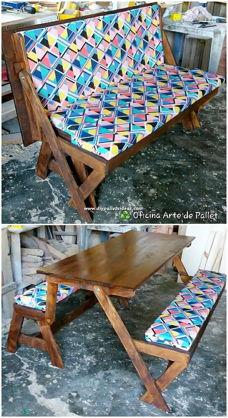 Pallet Bench or Table with Benches