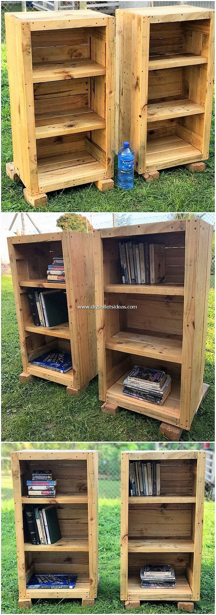 Pallet Bookshelving Cabinets