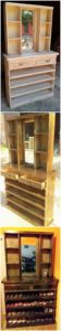 Pallet Dressing Table with Shoe Rack