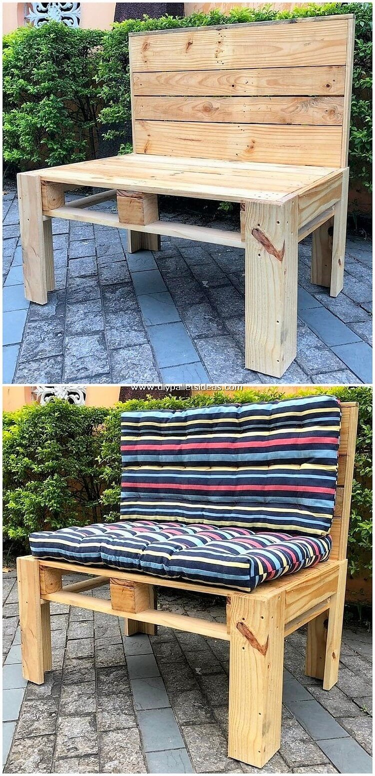 Wood Pallet Bench