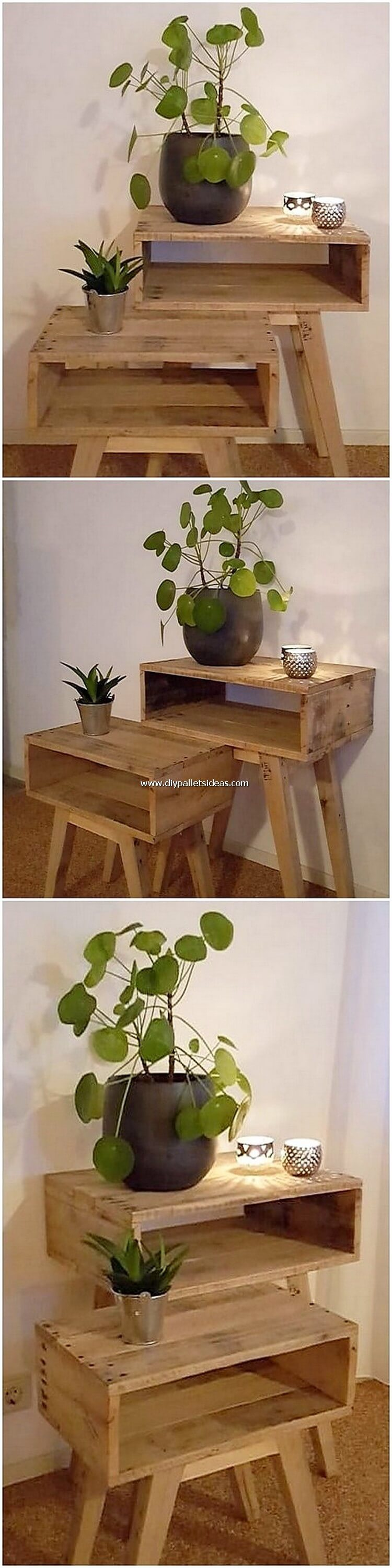 Wood Pallet Side Tables