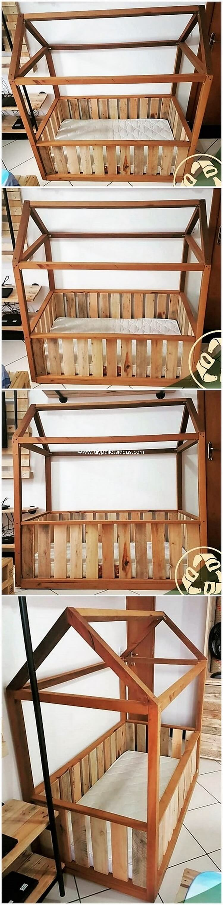 Wooden Pallet Bunk Bed