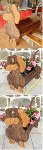 Pallet Dog Planter