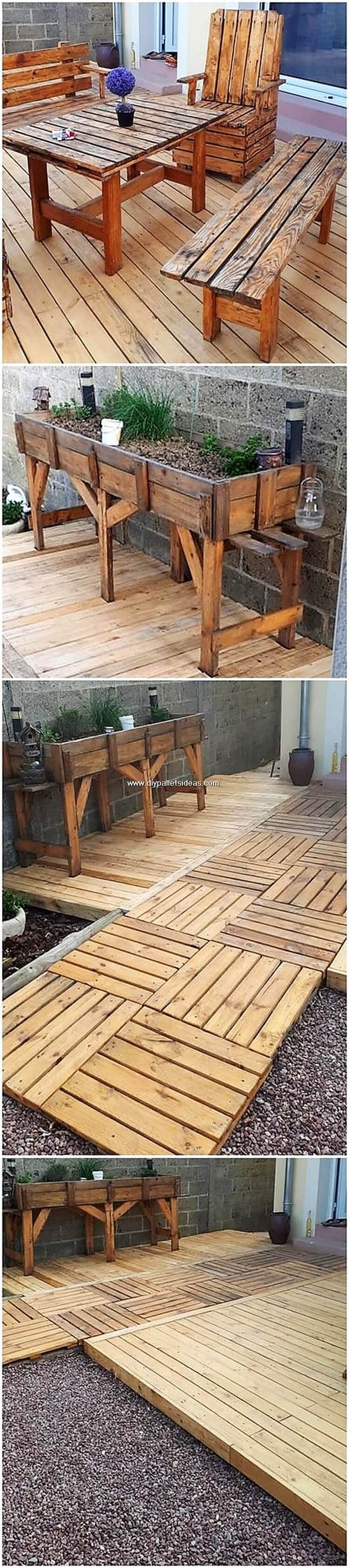 Pallet Garden Furniture and Terrace