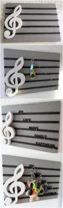 Pallet Wall Shelf Key Rack