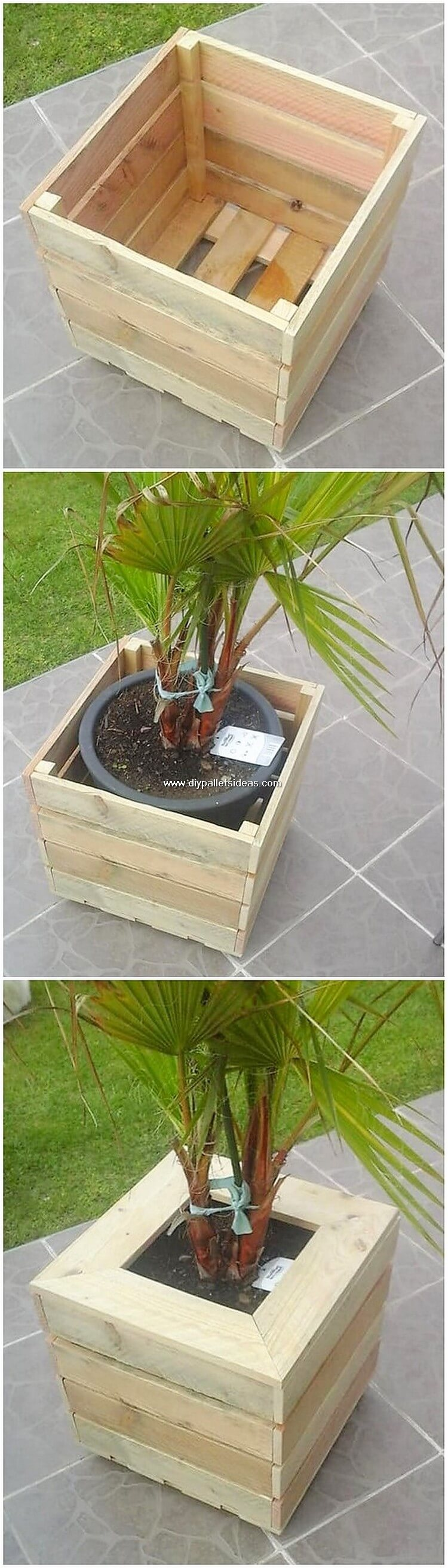 Wood Pallet Planter Box