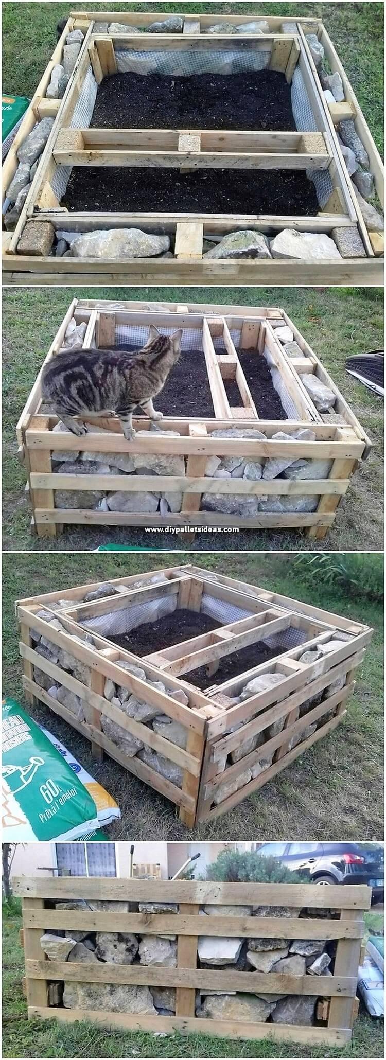 Pallet Raised Garden Bed or Planter