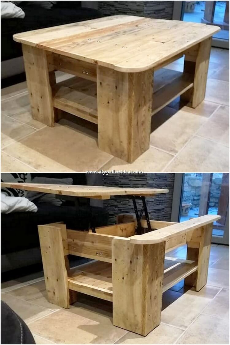 Liftup Top Pallet Table