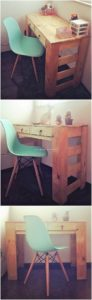 Pallet Desk Table with Drawers