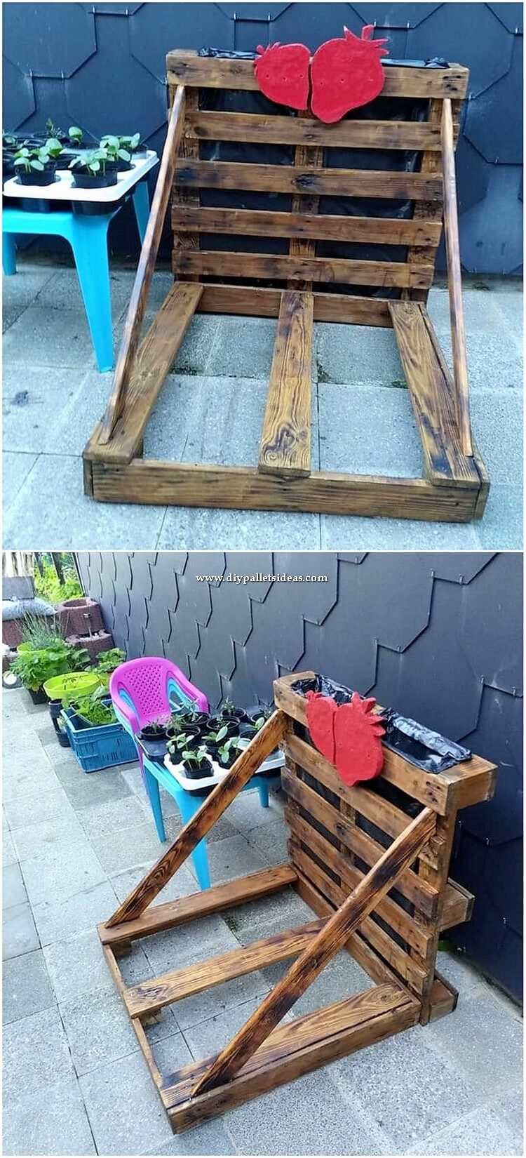 Pallet Outdoor Garden Creation