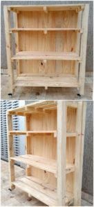 Pallet Wood Shelving Cabinet